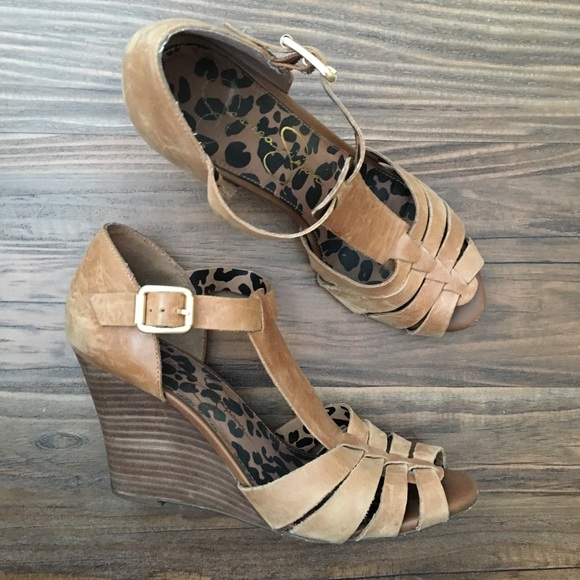 Jessica Simpson Brown Wedges Poshmark